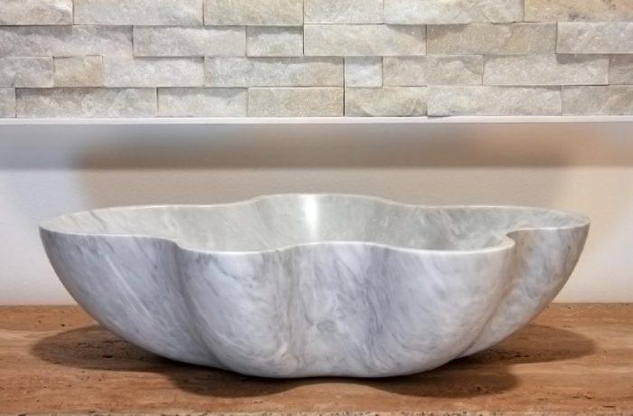 Lavello 3 in marmo Bardiglio